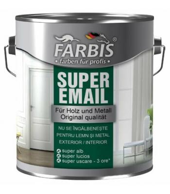 ЭМАЛЬ SUPER цветная Farbis Белый 2.5Л