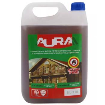 Огнебиозащитная пропитка Aur-M Бесцветная 5кг