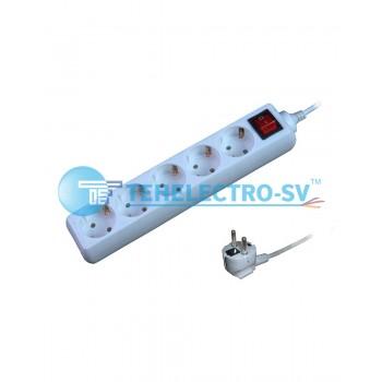 Удлинитель электрический 105KC  5 гнезда  с/з и выкл 1.5м (16A)
