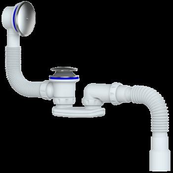 S122E - сифон для ванны и глубокого поддона системы easyopen