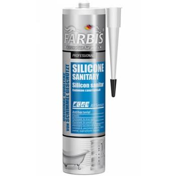 Профессиональный санитарный силикон FARBIS 280мл бел.